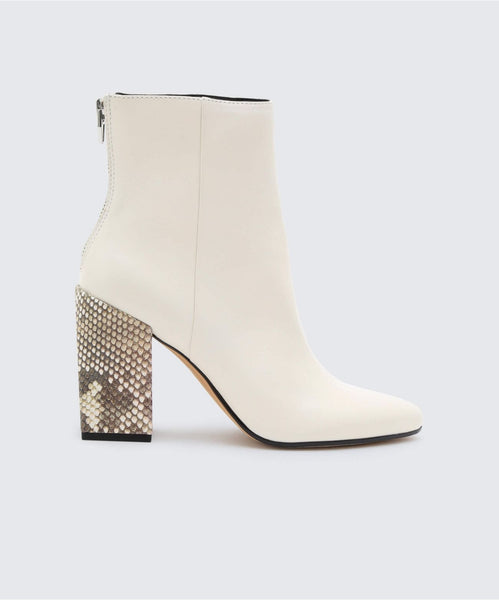 COBY BOOTIES OFF WHITE -   Dolce Vita