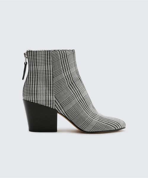 COLTYN BOOTIES IN BLACK/WHITE -   Dolce Vita