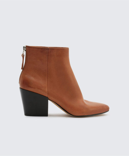 COLTYN BOOTIES IN BROWN -   Dolce Vita