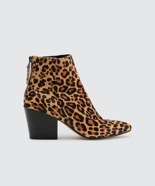 COLTYN BOOTIES IN DARK LEOPARD -   Dolce Vita