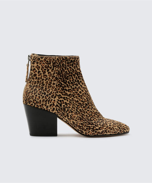 COLTYN BOOTIES IN LEOPARD -   Dolce Vita