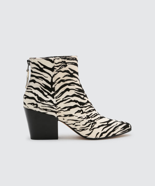 COLTYN BOOTIES IN ZEBRA -   Dolce Vita