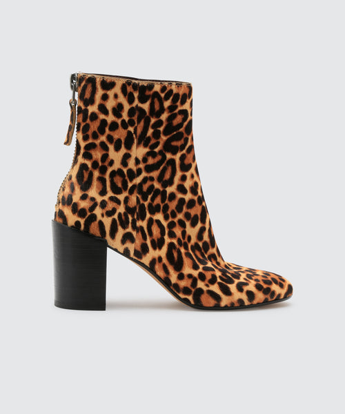 CYAN BOOTIES IN DARK LEOPARD -   Dolce Vita