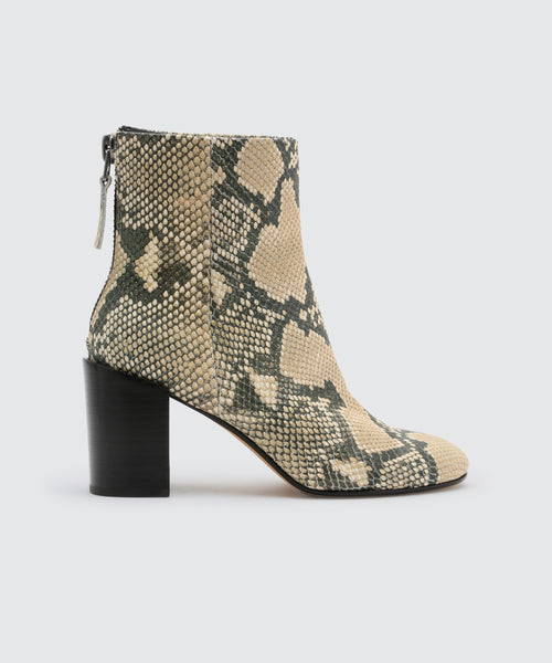 CYAN BOOTIES IN SNAKE -   Dolce Vita