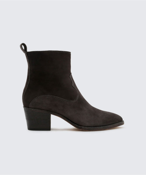 DALISS BOOTIES IN ANTHRACITE -   Dolce Vita