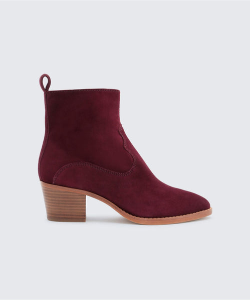 DALISS BOOTIES IN PLUM -   Dolce Vita