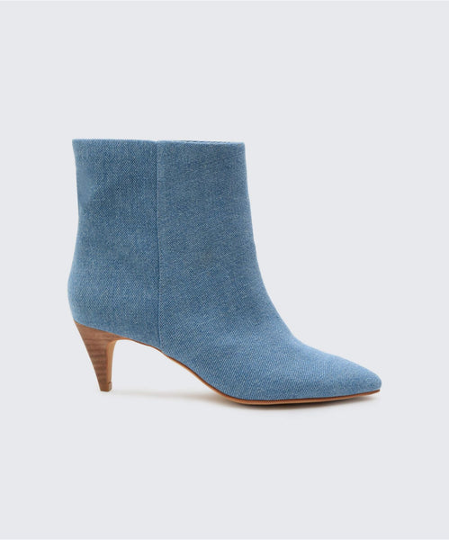 DEEDEE BOOTIES IN DENIM -   Dolce Vita