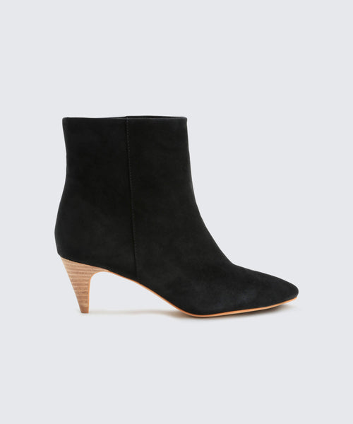DEEDEE BOOTIES IN ONYX -   Dolce Vita