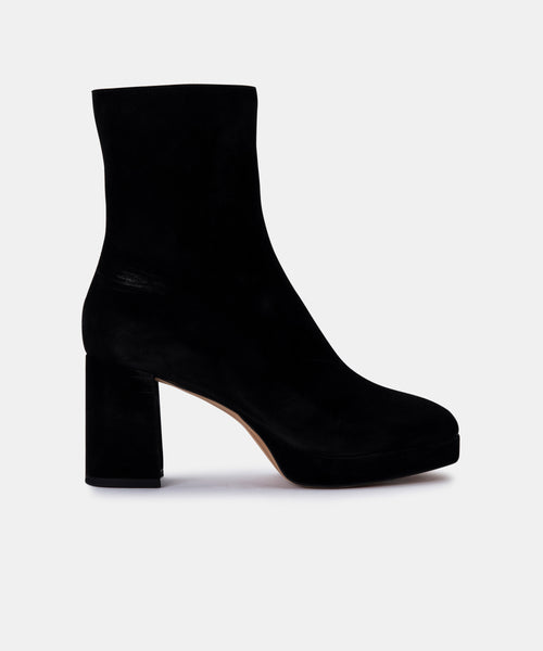 EDEN BOOTIES IN BLACK SUEDE -   Dolce Vita