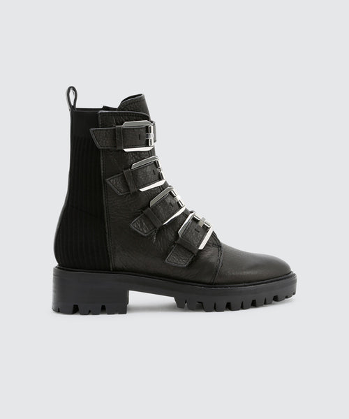 GAVEN LUG BOOTS IN BLACK -   Dolce Vita