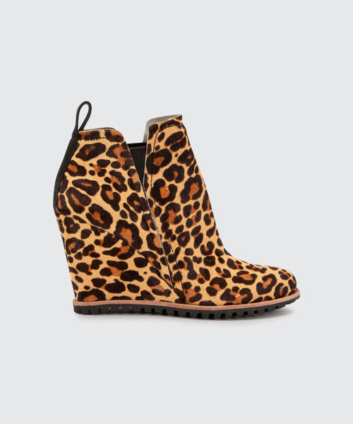 GIANNI BOOTIES IN DARK LEOPARD -   Dolce Vita