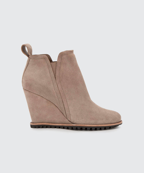 GIANNI BOOTIES IN DK TAUPE -   Dolce Vita