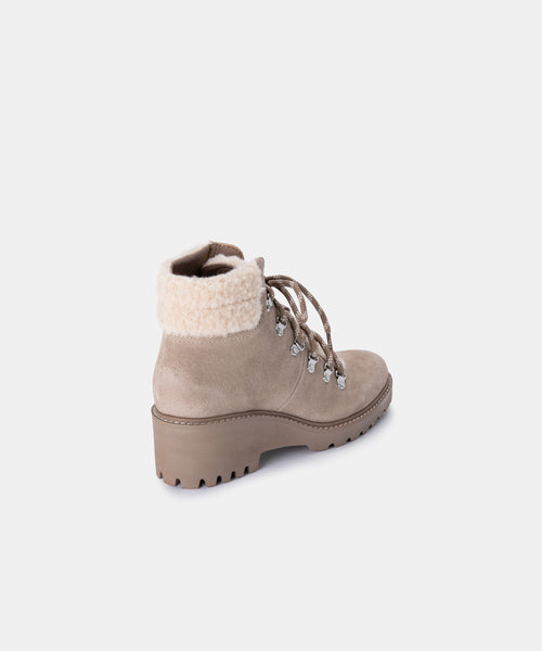 HANLEY BOOTIES IN ALMOND SUEDE -   Dolce Vita
