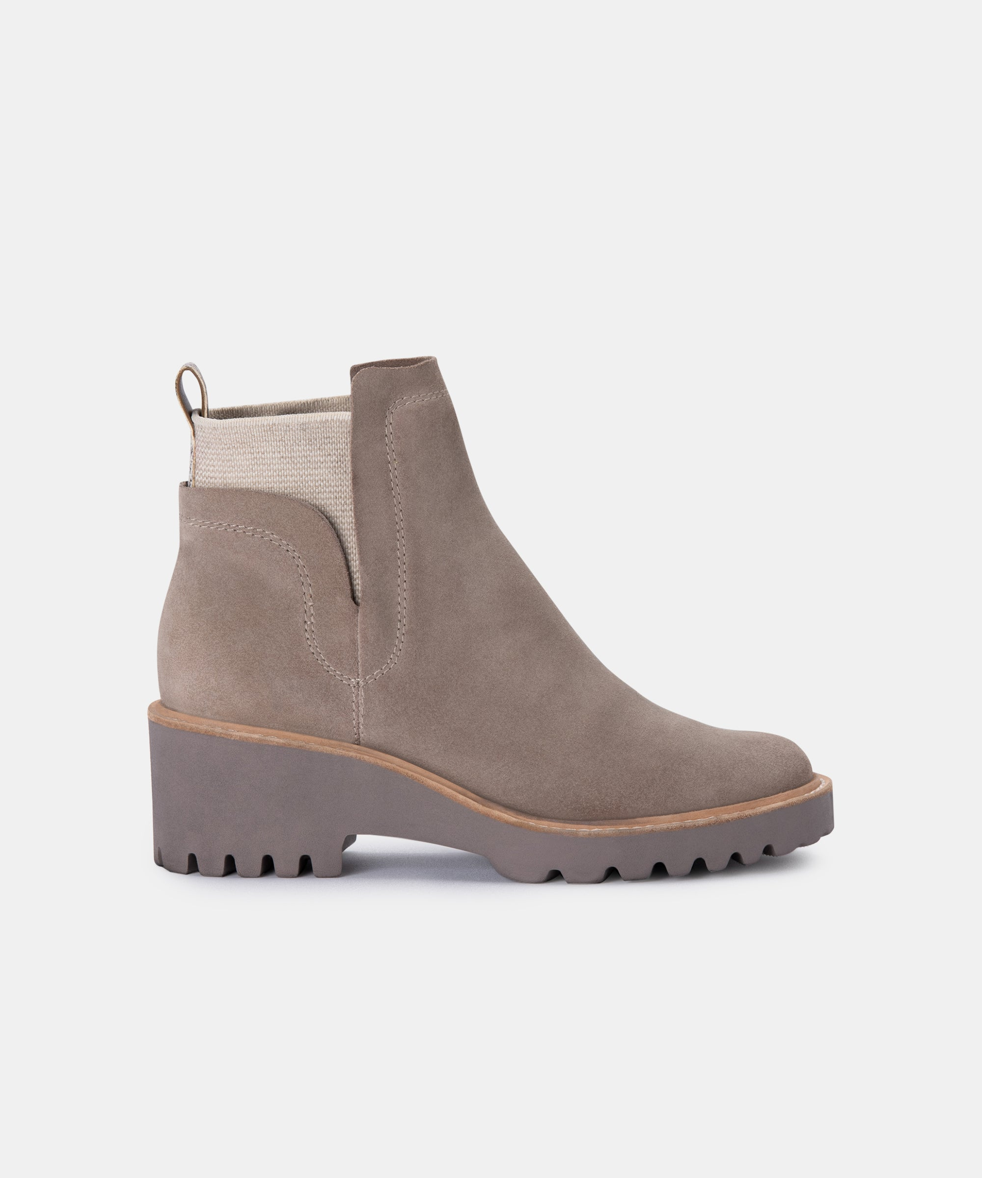 HUEY BOOTIES IN ALMOND
