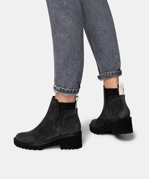 HUEY BOOTIES IN ANTHRACITE -   Dolce Vita