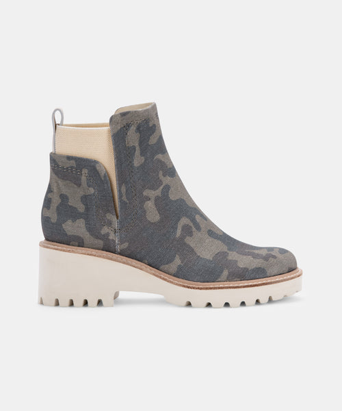 HUEY BOOTIES IN CAMO CANVAS -   Dolce Vita