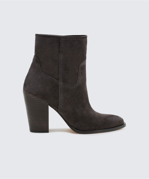 KELANI BOOTIES IN ANTHRACITE -   Dolce Vita