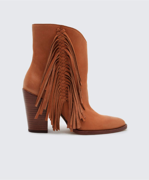 KENDEL BOOTIES IN BROWN -   Dolce Vita