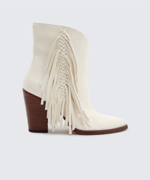 KENDEL BOOTIES IN OFF WHITE -   Dolce Vita