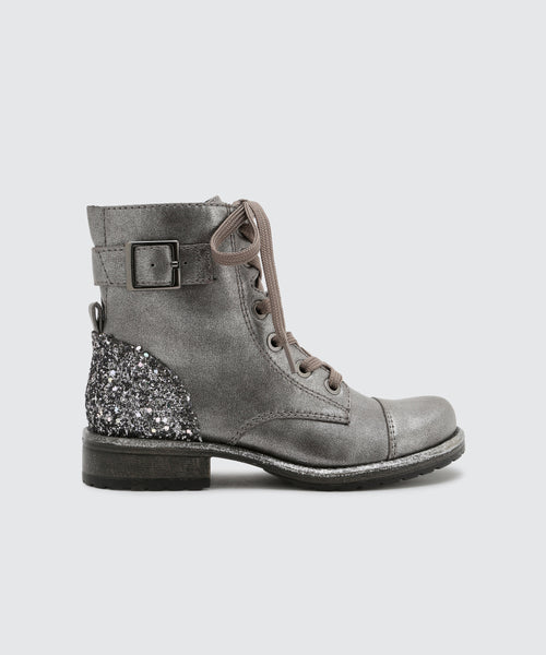 LAMA BOOTIES IN PEWTER -   Dolce Vita