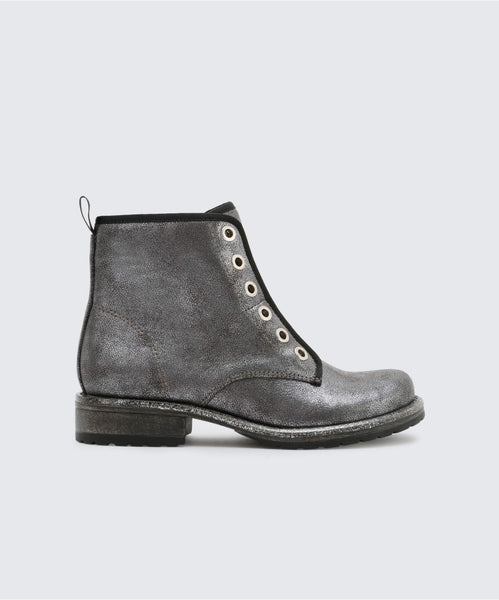 LANDIS BOOTIES IN SILVER -   Dolce Vita
