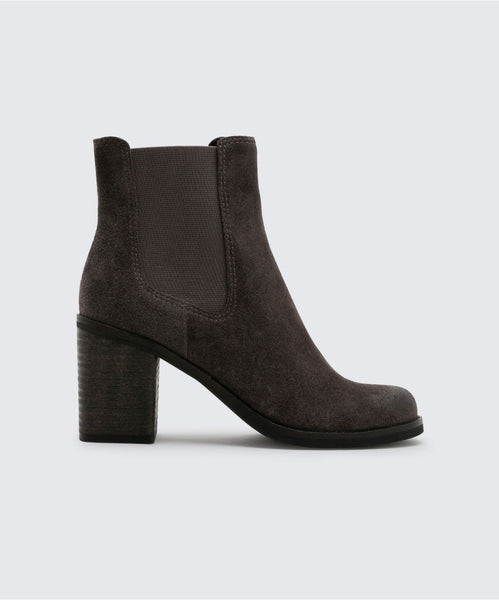 LINLEY BOOTIES IN ANTHRACITE -   Dolce Vita