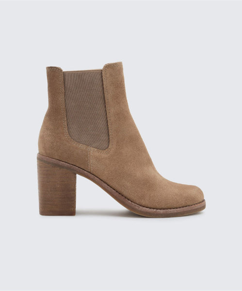 LINLEY BOOTIES IN DK TAUPE -   Dolce Vita