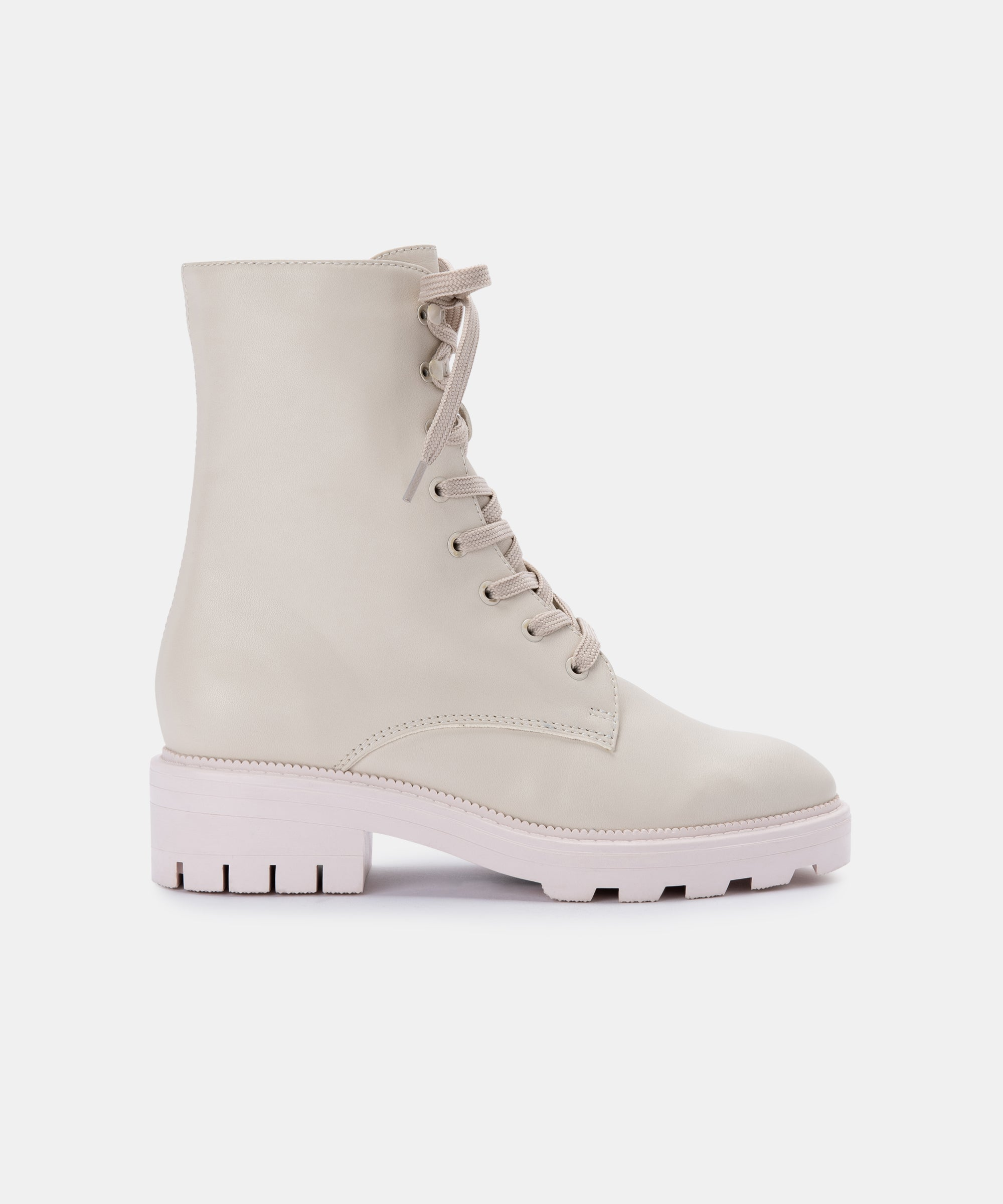 LOTTIE BOOTS IN IVORY LEATHER