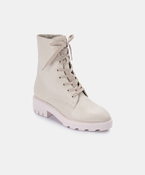 LOTTIE BOOTS IN IVORY LEATHER -   Dolce Vita
