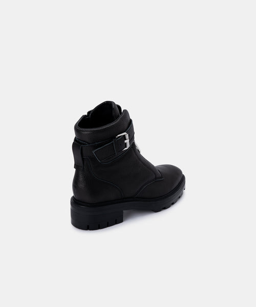 LURRA BOOTS IN BLACK LEATHER -   Dolce Vita