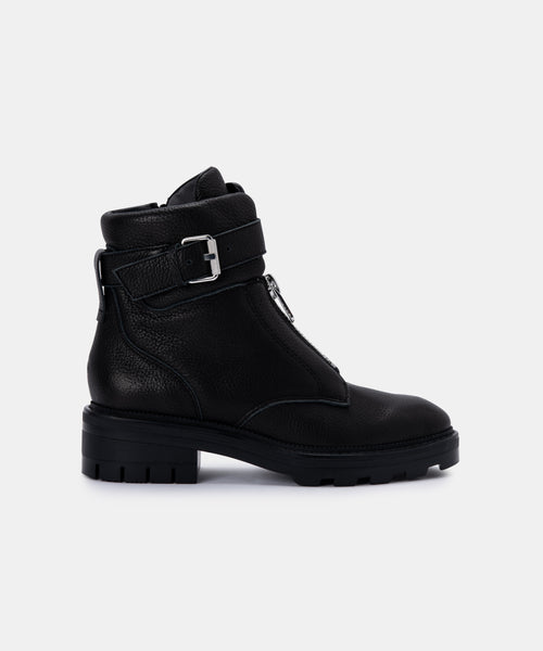 LURRA BOOTS IN BLACK ECO LEATHER -   Dolce Vita