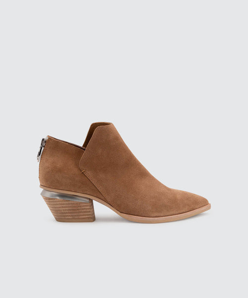 MARCA BOOTIES IN DARK SADDLE