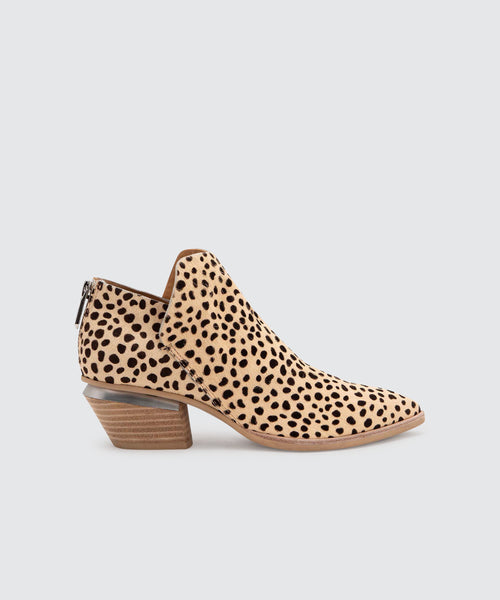 MARCA BOOTIES IN LEOPARD