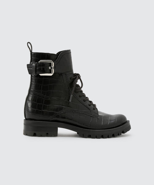PAXTYN BOOTS IN BLACK CROCO -   Dolce Vita