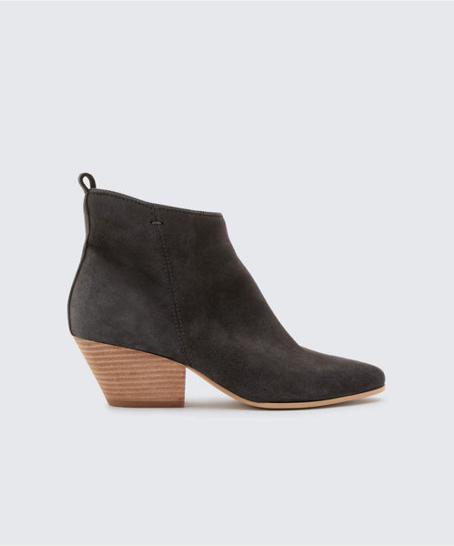 PEARSE BOOTIES IN ANTHRACITE -   Dolce Vita