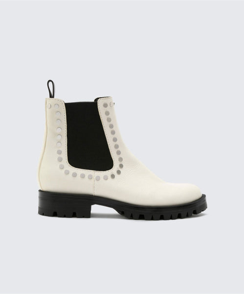 PETON BOOTIES IN OFF WHITE -   Dolce Vita