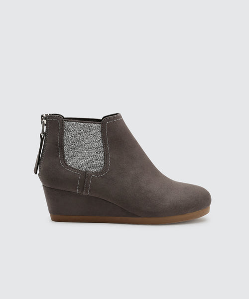 PIERO BOOTIES IN SLATE -   Dolce Vita