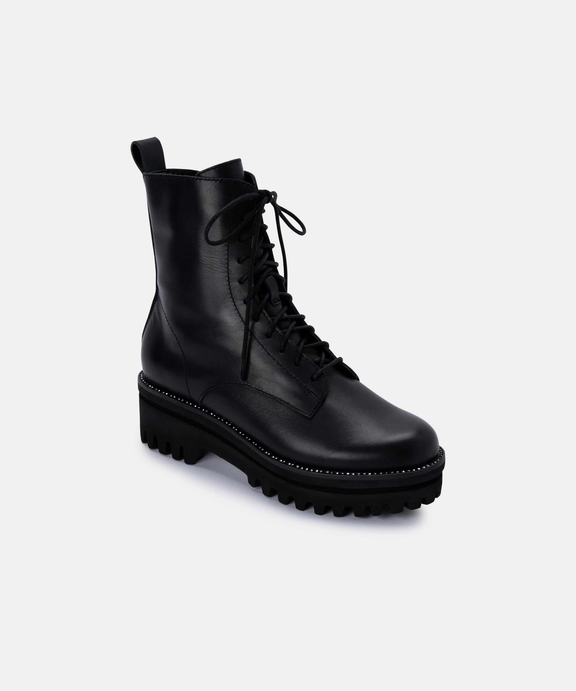 PRYM BOOTS IN BLACK LEATHER – Dolce Vita