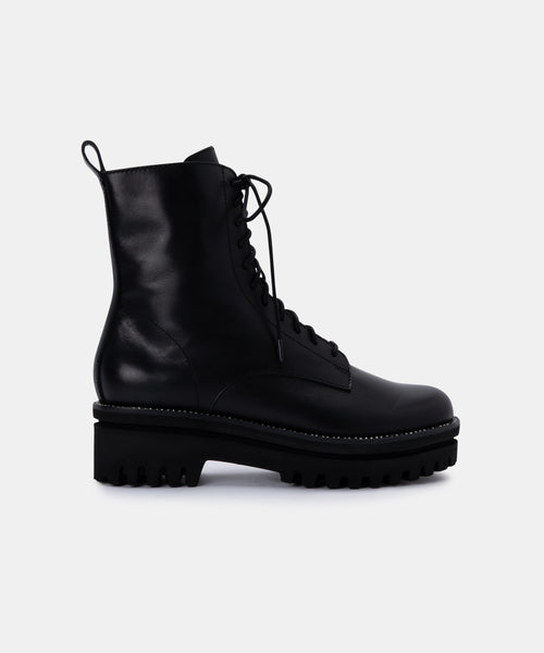 PRYM BOOTS IN BLACK LEATHER -   Dolce Vita