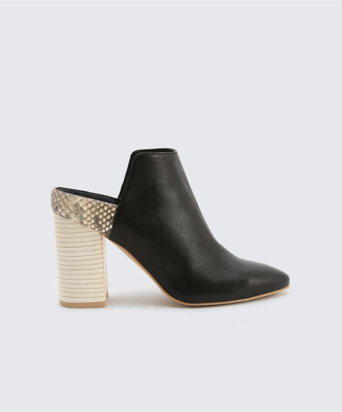 RENLY MULES IN ONYX -   Dolce Vita