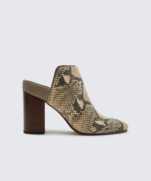 RENLY MULES IN SNAKE -   Dolce Vita