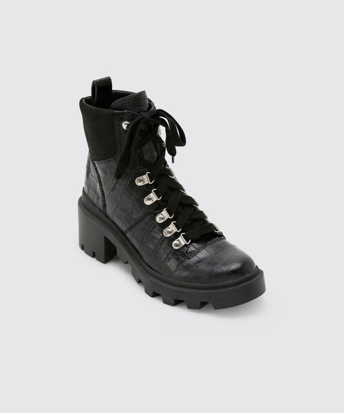 RUBI BOOTS IN BLACK CROCO -   Dolce Vita