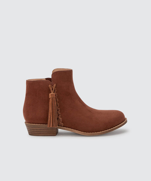 SAMIA BOOTIES IN SADDLE -   Dolce Vita