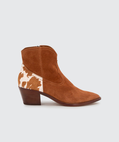 SENICA BOOTIES IN BROWN -   Dolce Vita