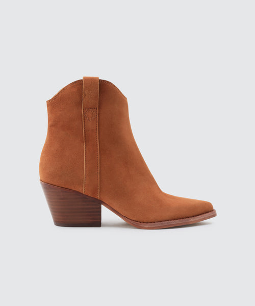 SERRA BOOTIES IN BROWN -   Dolce Vita
