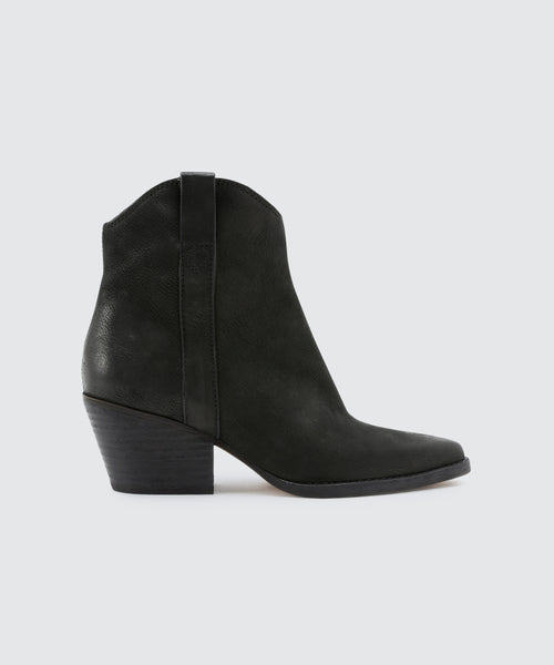 SERRA BOOTIES IN ONYX -   Dolce Vita