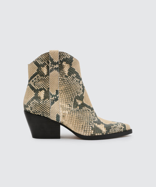 SERRA BOOTIES IN SNAKE -   Dolce Vita