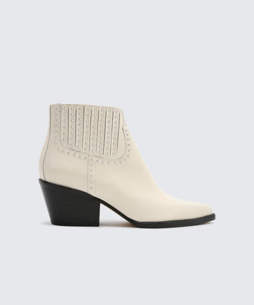 SETHE BOOTIES IN WHITE -   Dolce Vita