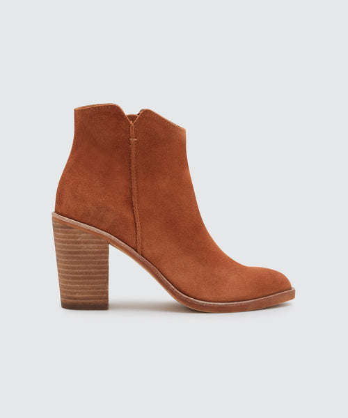 SEYON BOOTIES IN BROWN -   Dolce Vita