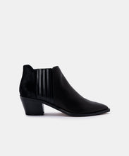 SHANA BOOTIES IN BLACK MULTI LEATHER -   Dolce Vita